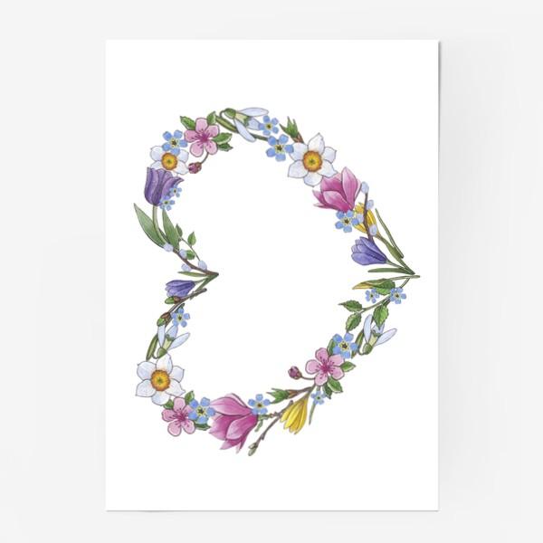 Постер «Весенние цветы. Сердце»