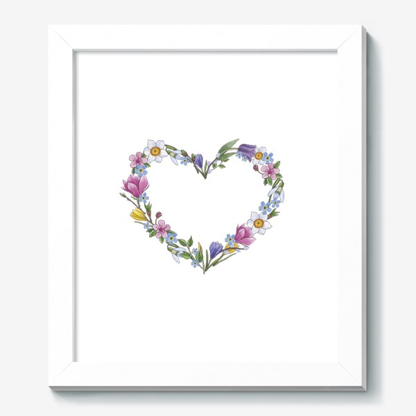 Картина «Весенние цветы. Сердце»
