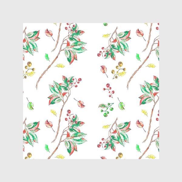 Скатерть «Акварельные осенние листья и ягоды 10»