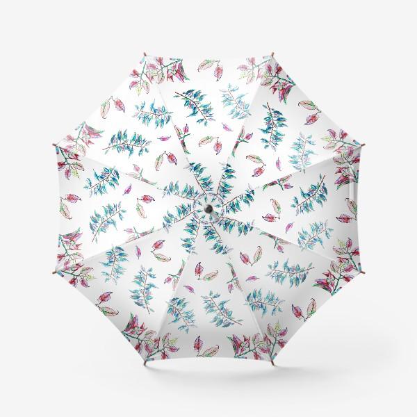 Зонт «Акварельные осенние листья 11»