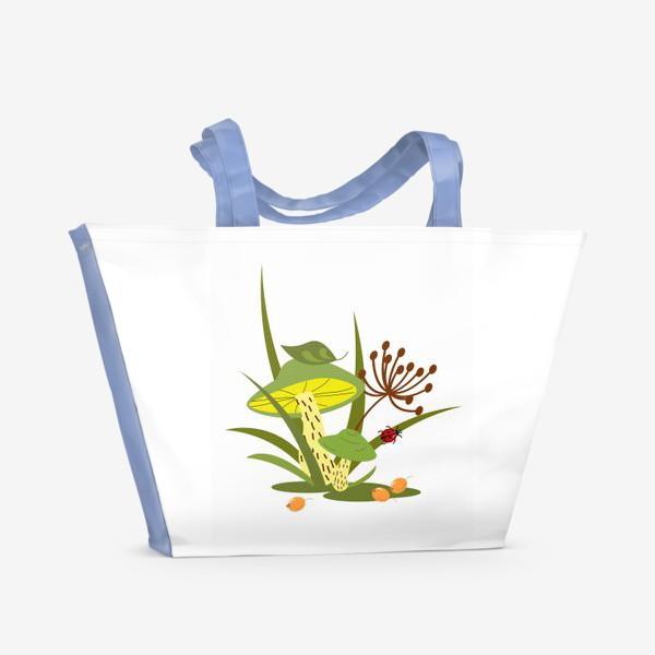 Пляжная сумка «Лесные грибы»