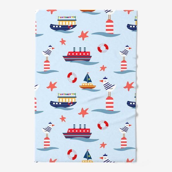 Полотенце «Корабли и чайки»
