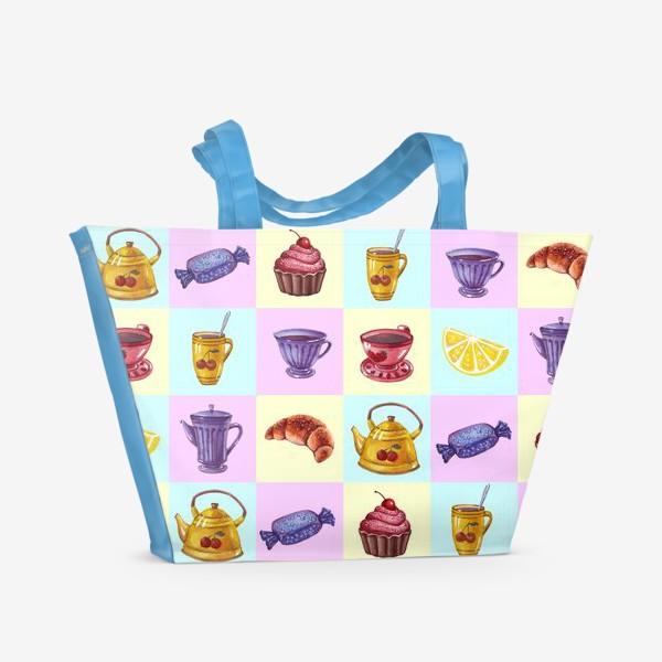 Пляжная сумка «Чаепитие»