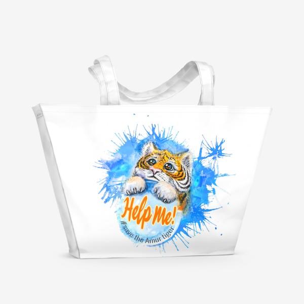 Пляжная сумка «Спаси тигра!»