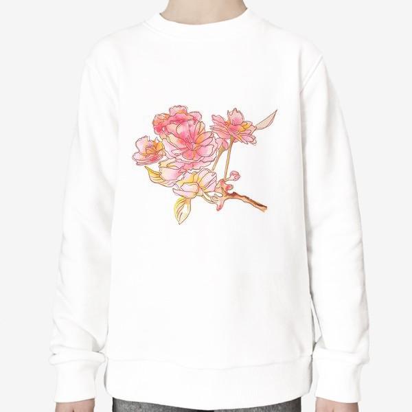 Свитшот «Цветы розовые»
