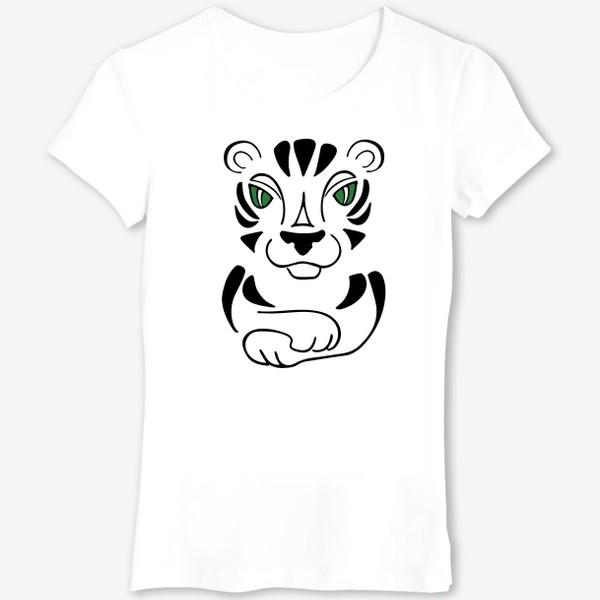 Футболка «Тигр в деталях»