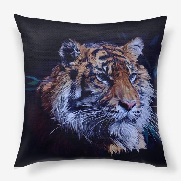 Подушка «Амурский тигр. Спаси Амурского тигра. Дикая природа. Фонд помощи.»