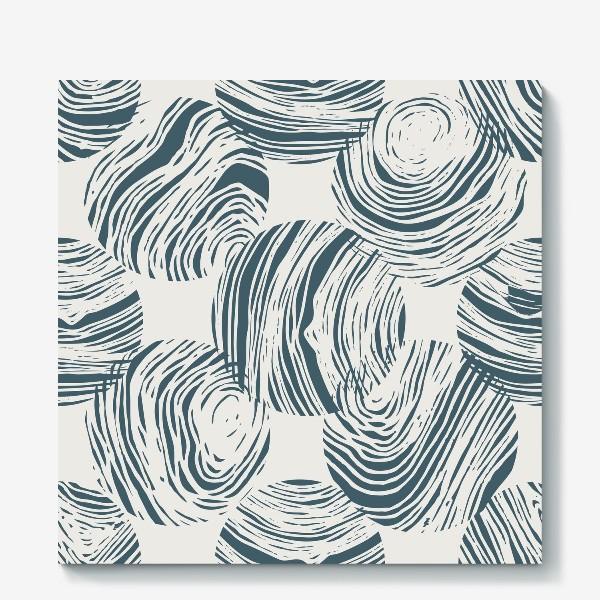 Холст «Абстрактный узор из кругов»