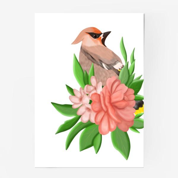 Постер «Птица в цветах»