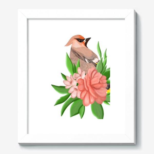 Картина «Птица в цветах»
