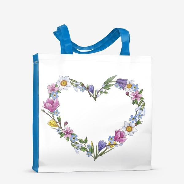 Сумка-шоппер «Весенние цветы. Сердце»