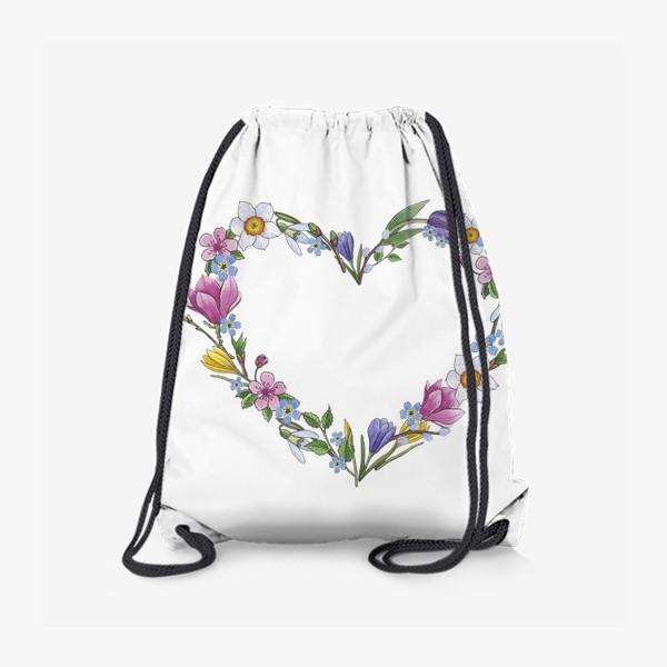 Рюкзак «Весенние цветы. Сердце»
