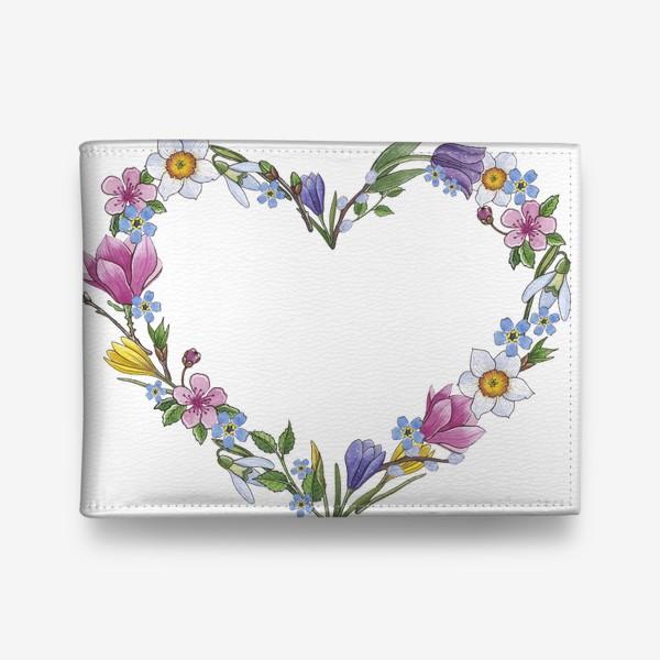 Кошелек «Весенние цветы. Сердце»