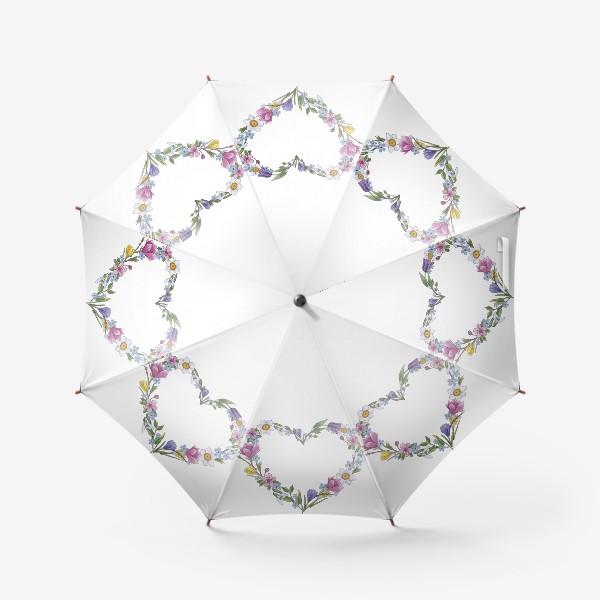 Зонт «Весенние цветы. Сердце»
