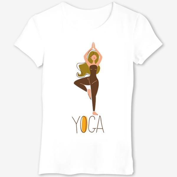 Футболка «йога девушка ассана»