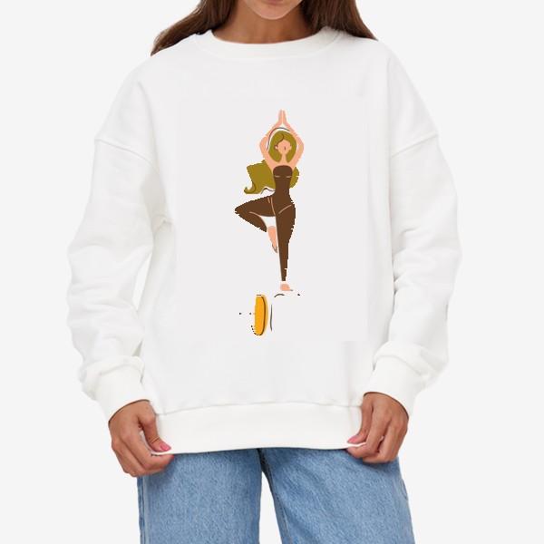 Свитшот «йога девушка ассана»