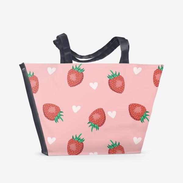 Пляжная сумка «Клубничная любовь»