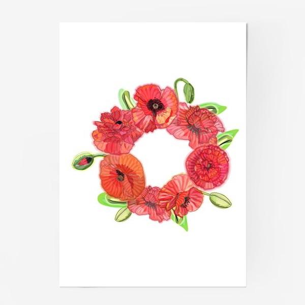 Постер «Венок из красных маков»
