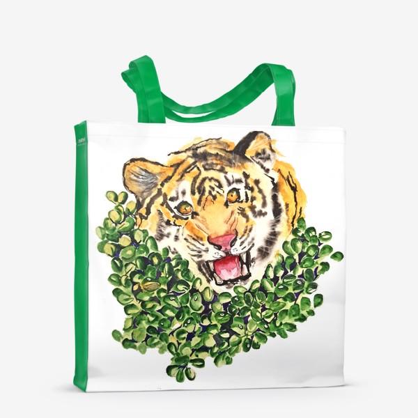 Сумка-шоппер «Тигр в траве»