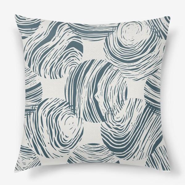 Подушка «Абстрактный узор из кругов»