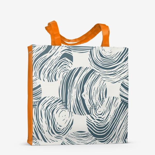 Сумка-шоппер «Абстрактный узор из кругов»