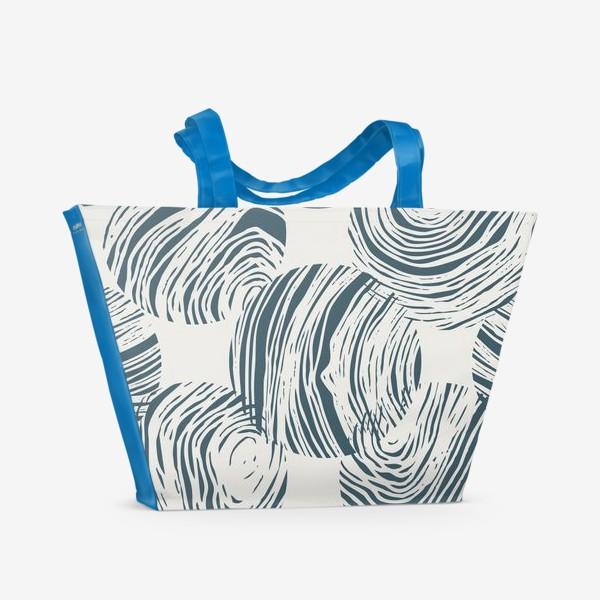 Пляжная сумка «Абстрактный узор из кругов»