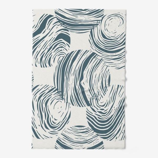 Полотенце «Абстрактный узор из кругов»
