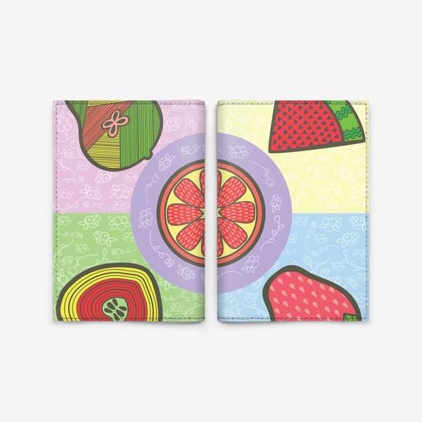 Обложка для паспорта «фрукты»