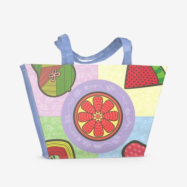 Пляжная сумка «фрукты»