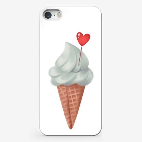 Чехол iPhone «фисташковое мороженое»