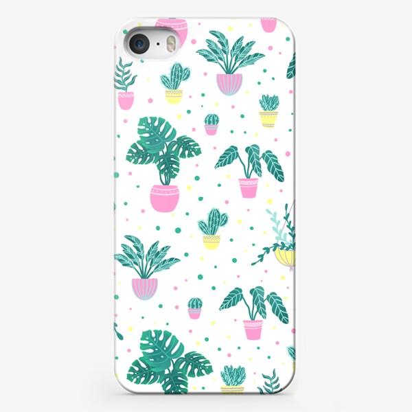 Чехол iPhone «Комнатные цветы/кактусы»