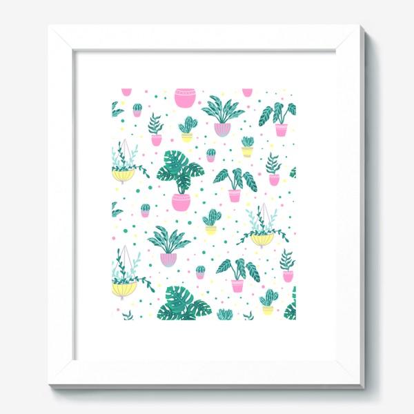 Картина «Комнатные цветы/кактусы»