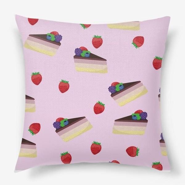 Подушка «Торт с ягодами»