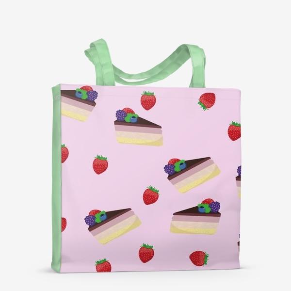 Сумка-шоппер «Торт с ягодами»