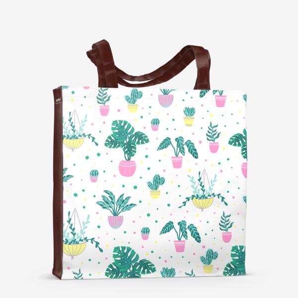 Сумка-шоппер «Комнатные цветы/кактусы»