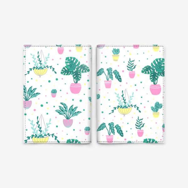 Обложка для паспорта «Комнатные цветы/кактусы»