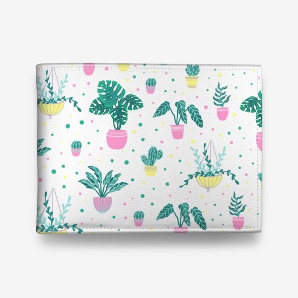 Кошелек «Комнатные цветы/кактусы»