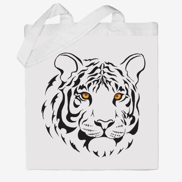 Сумка хб «Амурский тигр. Графика»