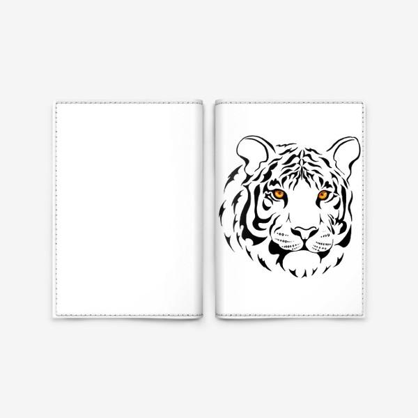 Обложка для паспорта «Амурский тигр. Графика»