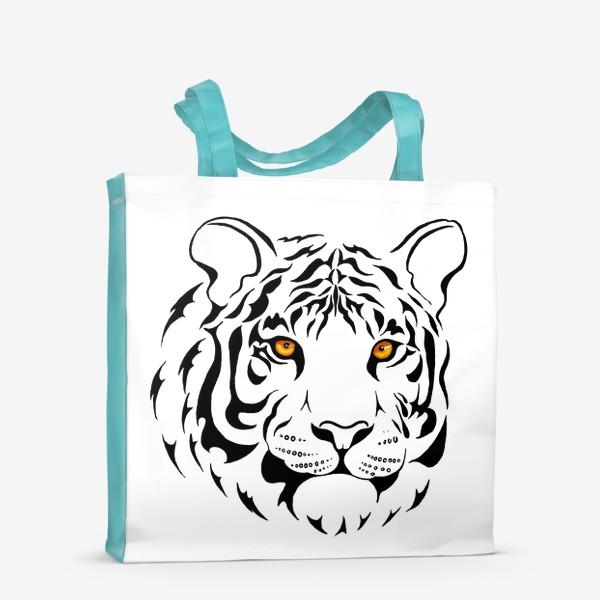 Сумка-шоппер «Амурский тигр. Графика»