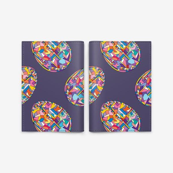 Обложка для паспорта «Яйца геометрия»
