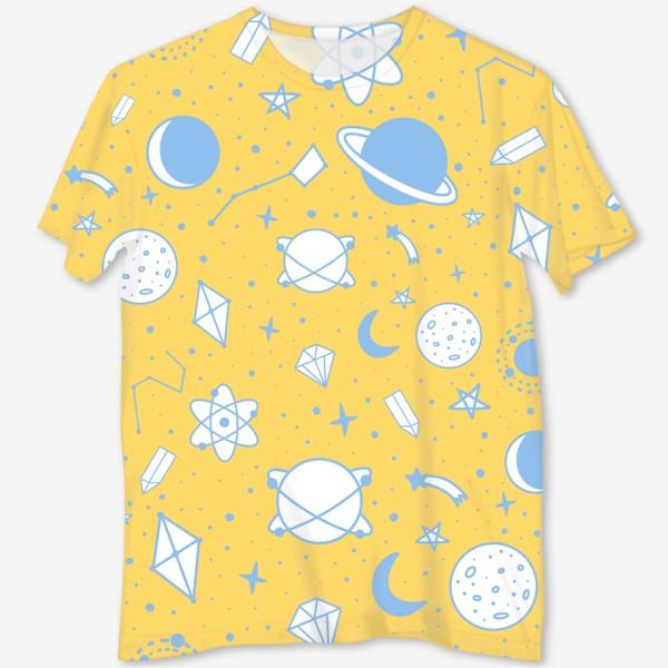 Футболка с полной запечаткой «Космос, планеты, созвездия, звезды 4»