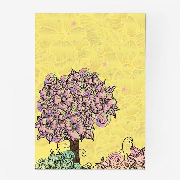 Постер «Цветочный куст (зеатлинг)»