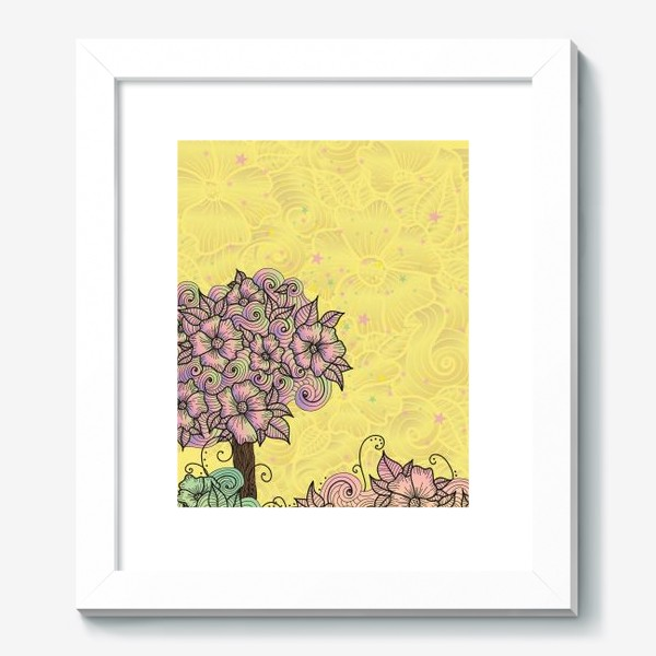 Картина «Цветочный куст (зеатлинг)»