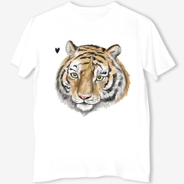 Футболка «Амурский тигр. Хищник. Дикая кошка. Серьезный принт.»