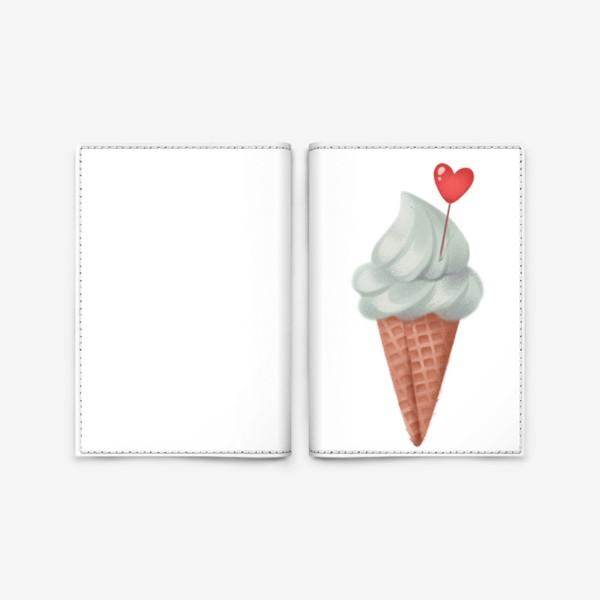 Обложка для паспорта «фисташковое мороженое»