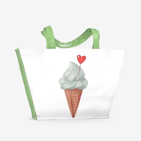 Пляжная сумка «фисташковое мороженое»