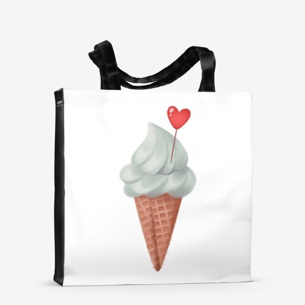 Сумка-шоппер «фисташковое мороженое»