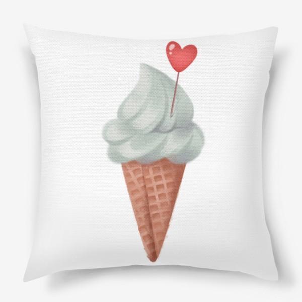 Подушка «фисташковое мороженое»