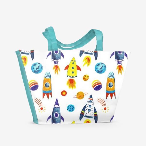 Пляжная сумка «День космонавтики»